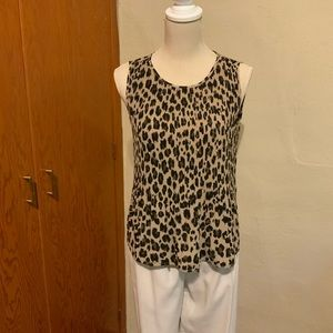 ALFRED SUNG leopard print blouse Size Small